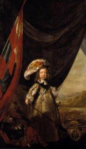 Portret van Christiaan V (1646-1699) als kind met speelgoedkanonnen