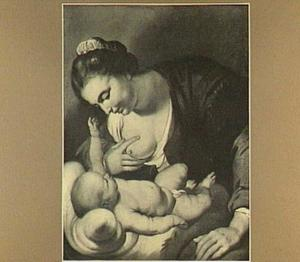 De Maagd Maria het kind de borst gevend