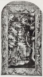 Ruiter in een bomenlaan