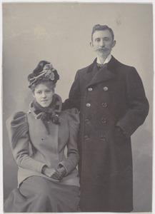 Portret van Johanna Smit (1877-1945) en Louis Willem van Soest (1867-1948)