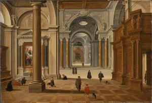Interieur van een barokke kerk