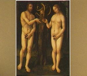 De Zondeval: : Eva biedt Adam het fruit aan  (Genesis 3:6)