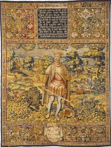 Abel (1218-1252) met jachtscenes op de achtergrond