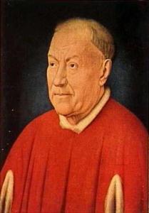Portret van Nicolò Albergati, kardinaal van de Santa Croce te Rome (1375-1443)