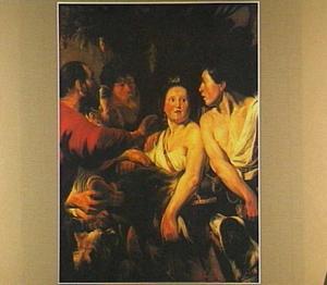 De ooms van Atalanta trachten haar de van Meleager ontvangen everzwijnkop te ontroven (Ovidius, Met.VIII, 260-444)
