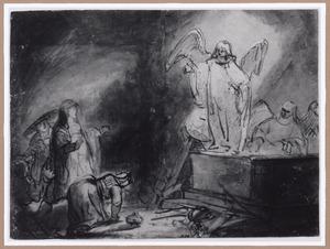 De engel verschijnt aan de drie Maria's bij het graf (Lucas 24:1-7)