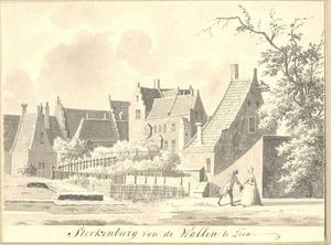 Huis Sterkenburg in Wamel vanaf de wallen te zien