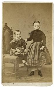 Portret van Jansje Appeldoorn (1859-1927) en Johan Gerrit Appeldoorn (1862-1945)