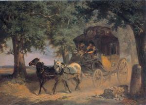 Beierse postkoets onderweg