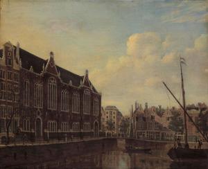 Het Spui met de Lutherse kerk in Amsterdam
