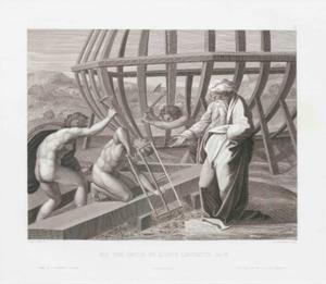 Noach bouwt de ark (Genesis 6:14, 22)