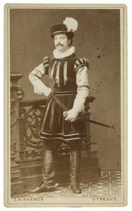 Portret van een student, mogelijk Henricus Germanus Josephus Mattheus Heijmans (1861-...) als Hollandsche ruiter
