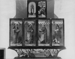De vier evangelisten, de Gregoriusmis en de Marianum