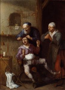 Het snijden van de kei door een chirurgijn