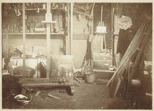 Atelier van de schilder Piet Meiners (1857-1903), op het landgoed Ewijkshoeve van de familie Witsen bij Lage Vuursche