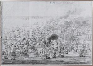 De slag bij Lowestoft, 1665, 3 uur in de middag