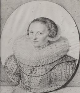 Portret van Johanna de Visscher (1604-1676)