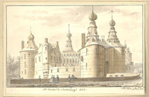 Gezicht op kasteel Batenburg