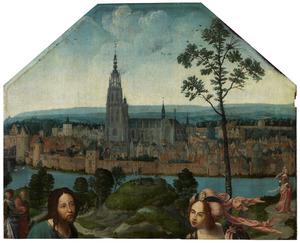 Christus en de Samaritaanse vrouw voor de stad Breda
