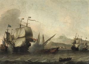 Zeeslag nabij een zuidelijke haven waarschijnlijk de slag bij Agosta, 22 april 1676