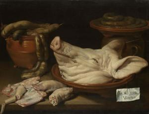 Stilleven met producten van het varken