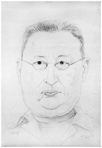 Zelfportret van Johannes Carolus van der Meer Mohr (1892-1969)