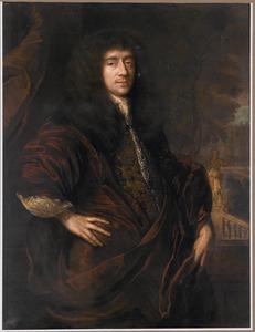 Portret van een man in een kamerjas