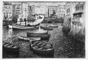De binnenhaven van Camogli