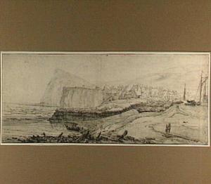 Gezicht op Dover vanuit het oosten naar de Shakespeare's Cliff