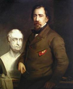 Portret van Johan Theodore Stracké (1817-1891)