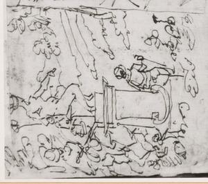 Standbeeld van Mercurius als beschermer van reizigers