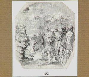 Koning Saul wijst op David als dichter van psalm 42