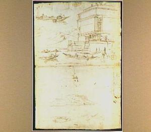 Ingang van Villa Borromeo op Isola Bella; gezicht op Pallanza aan het Lago Maggiore