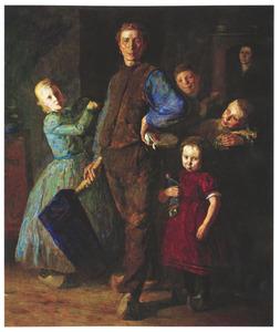 De dorpsomroeper en zijn familie