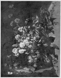 Stillleven van een vaas met bloemen