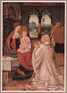 De lactatio van de H. Bernardus van Clairvaux