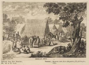 Soldaten in een legerkamp