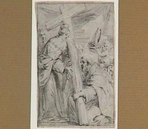 Heilige Helena met het Ware Kruis, omarmd door een bisschop
