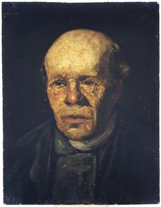 Portret van een oude man met kalend hoofd