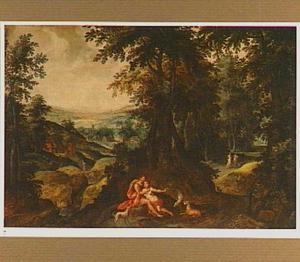 Boslandschap met Cephalis en Procris (Metamorphosen 7:795-866)