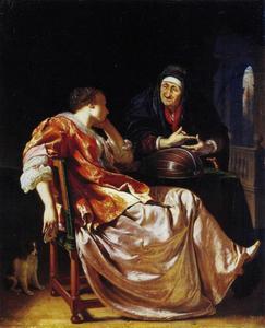 Jonge vrouw met een koppelaarster