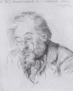 Portret van Bernardus Johannes Blommers (1845-1914)