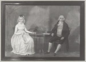 Portret van Peel Beek (1745-1809) en Judith van Ommeren (?-1846)