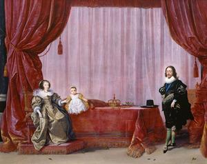 Portret van de familie van koning Charles I van Engeland (1600-1649)