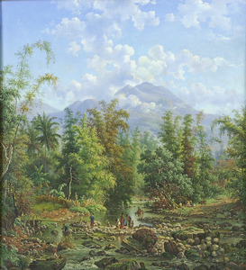 Rivier de Brantas bij Malang
