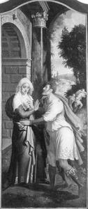 De ontmoeting van Anna en Joachim bij de Gouden Poort