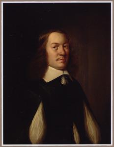 Portret van een man, ten halven lijve, met een platte kraag met akertjes