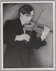 Portret van de violist Dirk Gootjes