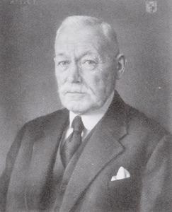 Portret van Willem van der Vorm (1873-1957)