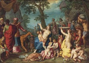 De inzameling van het manna (Exodus 16:10-17)